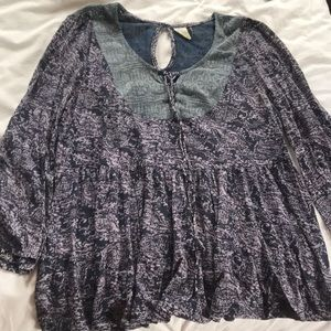 Anthropologie Purple Blouse - made in India M